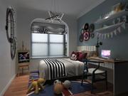 Bedroom 2500x2500 3d model