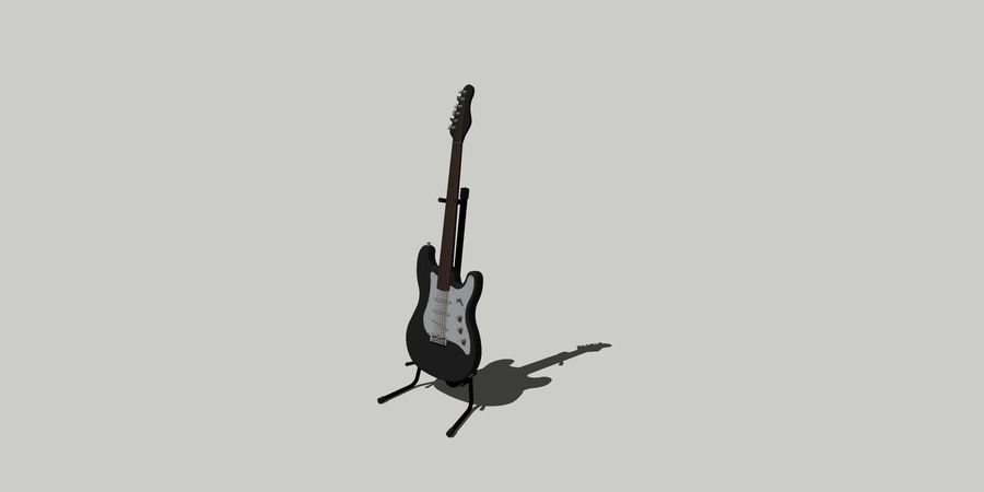 Elektro gitar royalty-free 3d model - Preview no. 1