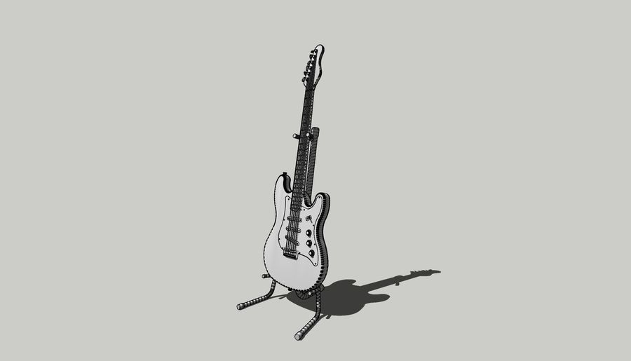 Elektro gitar royalty-free 3d model - Preview no. 7