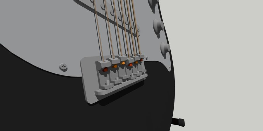 Elektro gitar royalty-free 3d model - Preview no. 4