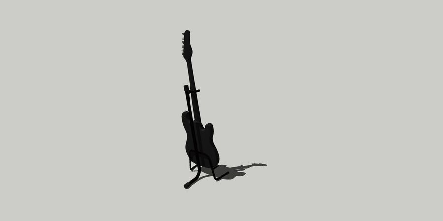 Elektro gitar royalty-free 3d model - Preview no. 2