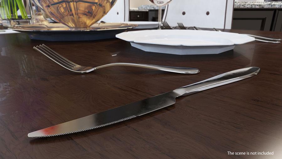 Srebrny Nóż royalty-free 3d model - Preview no. 2