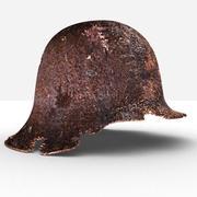 Rusty WW2 Helmet 3d model