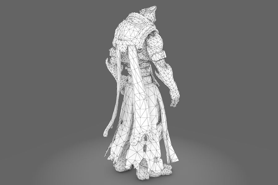 Low poly character type R royalty-free 3d model - Preview no. 10
