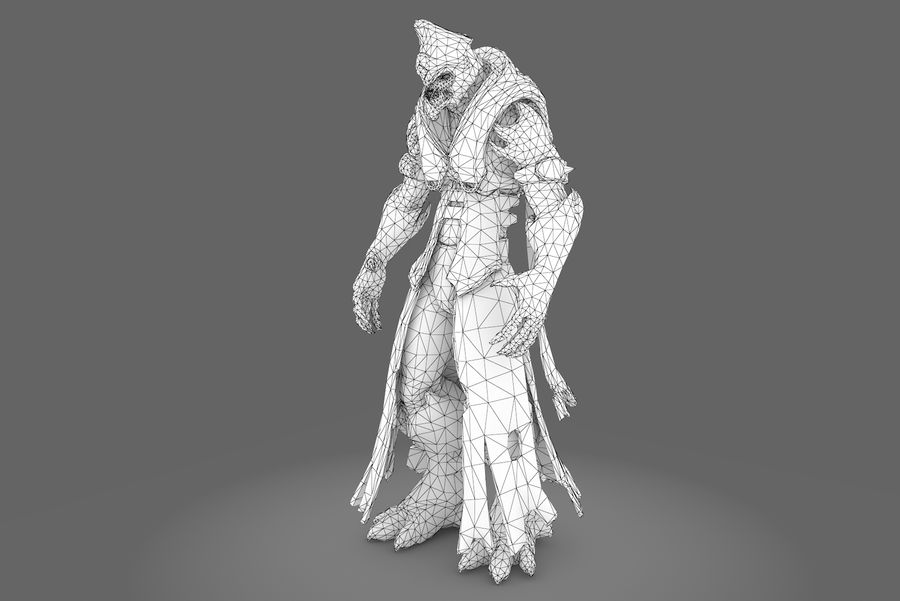 Low poly character type R royalty-free 3d model - Preview no. 8