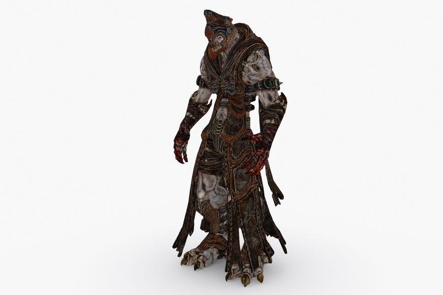 Low poly character type R royalty-free 3d model - Preview no. 3