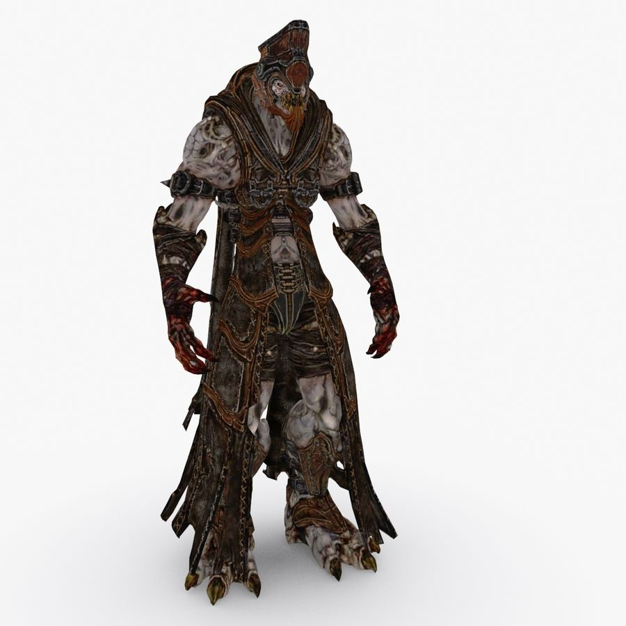 Low poly character type R royalty-free 3d model - Preview no. 1