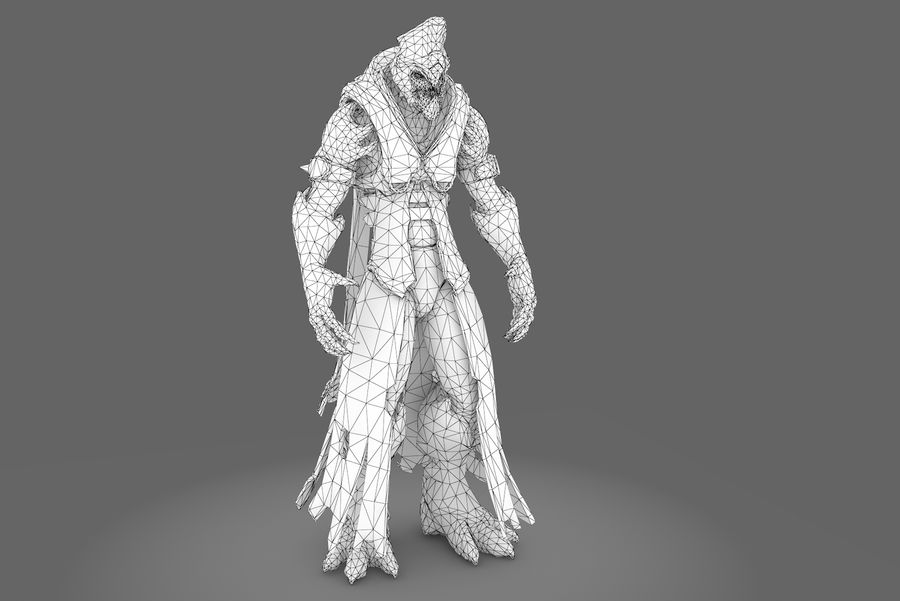 Low poly character type R royalty-free 3d model - Preview no. 7