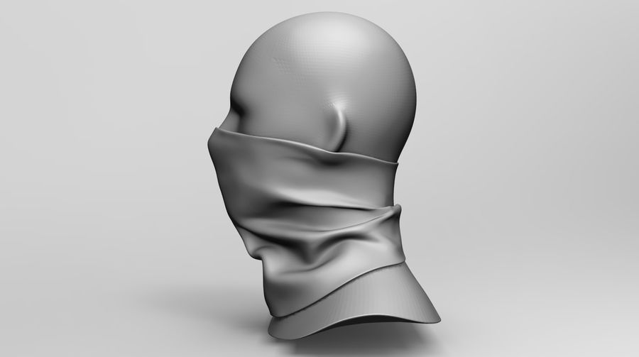 BaLaclava Maskesi royalty-free 3d model - Preview no. 8