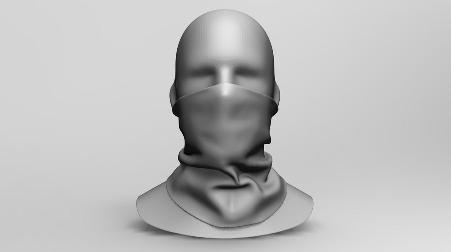BaLaclava Maskesi royalty-free 3d model - Preview no. 7