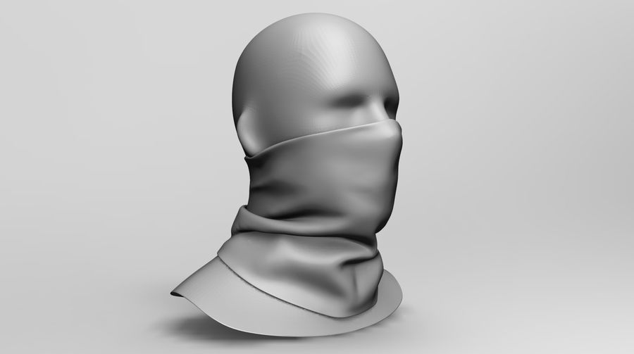 BaLaclava Maskesi royalty-free 3d model - Preview no. 10