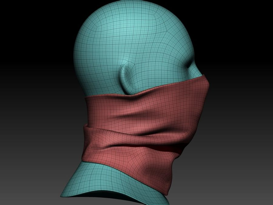 BaLaclava Maskesi royalty-free 3d model - Preview no. 12