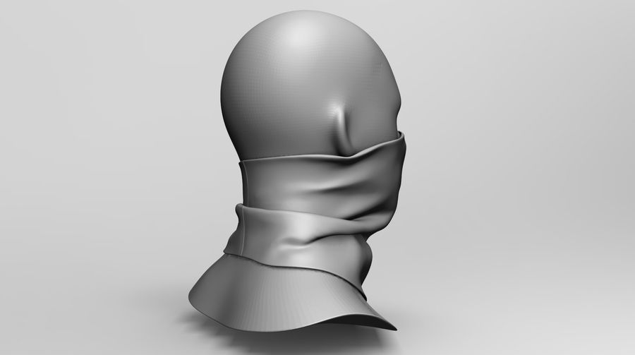 BaLaclava Maskesi royalty-free 3d model - Preview no. 9