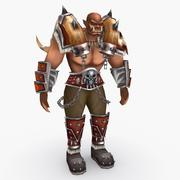 Game character type Q 3d model