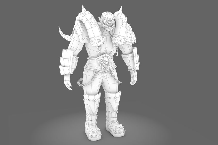 Spielcharaktertyp Q royalty-free 3d model - Preview no. 7