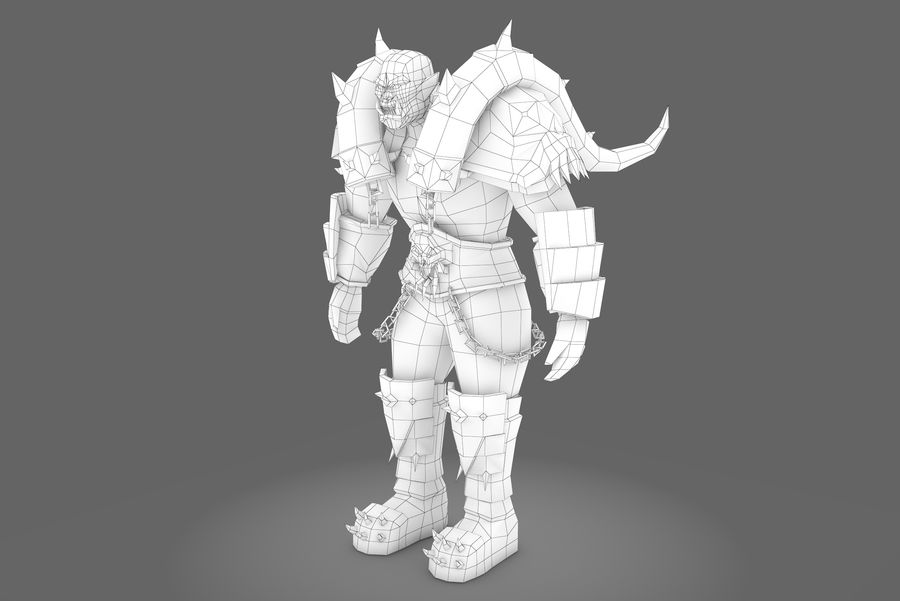 Spielcharaktertyp Q royalty-free 3d model - Preview no. 8