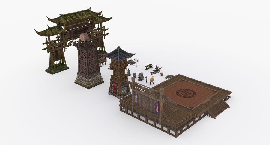Mittelalterliche Chinakonstruktionen royalty-free 3d model - Preview no. 5