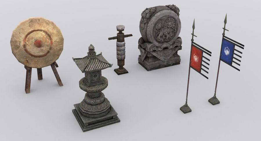 Mittelalterliche Chinakonstruktionen royalty-free 3d model - Preview no. 9
