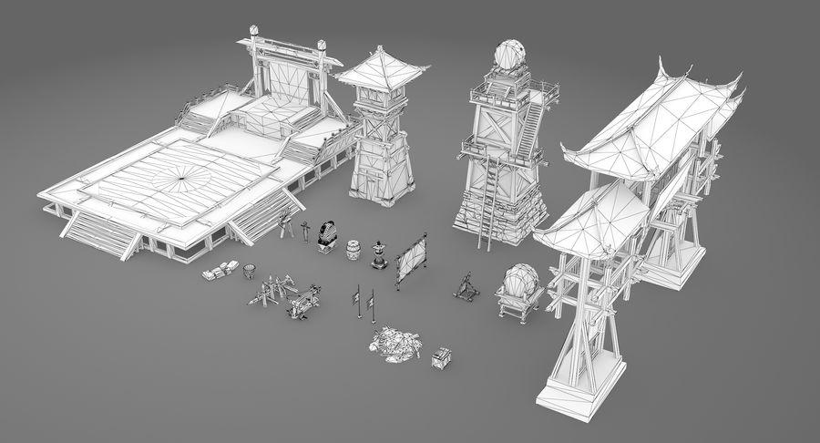 Mittelalterliche Chinakonstruktionen royalty-free 3d model - Preview no. 16