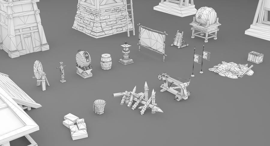 Mittelalterliche Chinakonstruktionen royalty-free 3d model - Preview no. 19