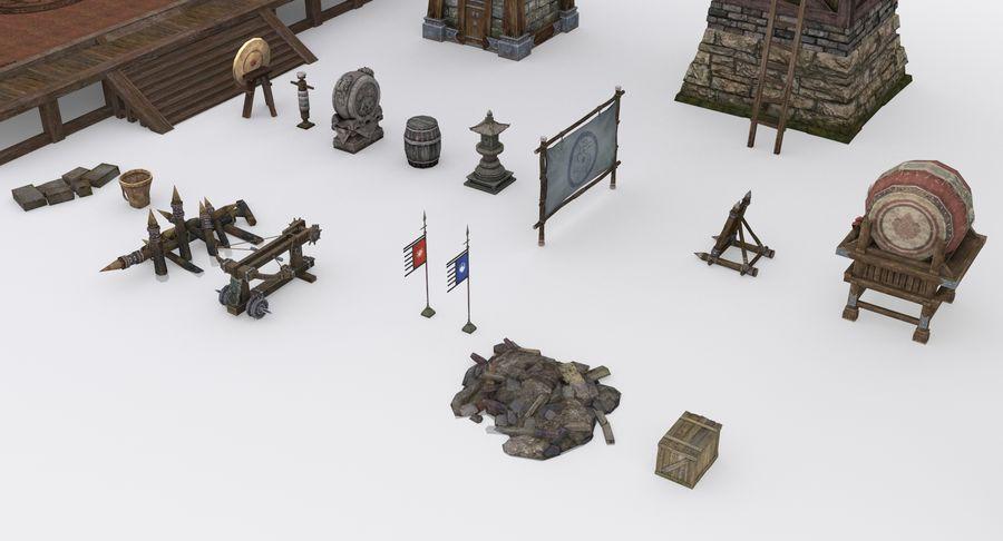 Mittelalterliche Chinakonstruktionen royalty-free 3d model - Preview no. 7