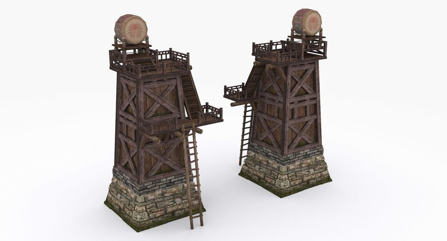 Mittelalterliche Chinakonstruktionen royalty-free 3d model - Preview no. 13
