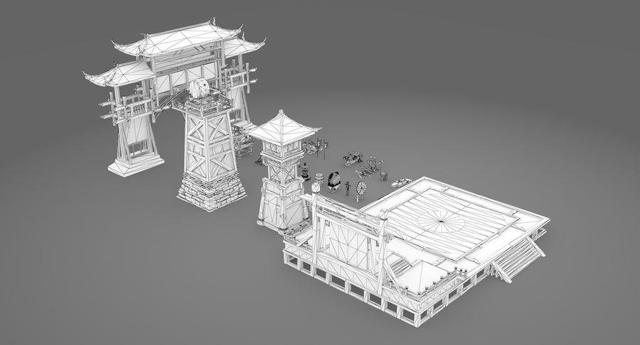Mittelalterliche Chinakonstruktionen royalty-free 3d model - Preview no. 18