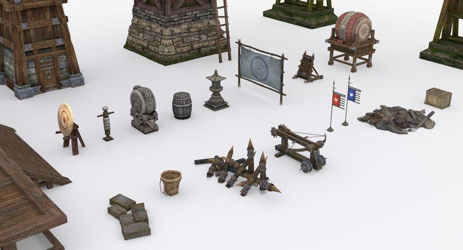 Mittelalterliche Chinakonstruktionen royalty-free 3d model - Preview no. 6