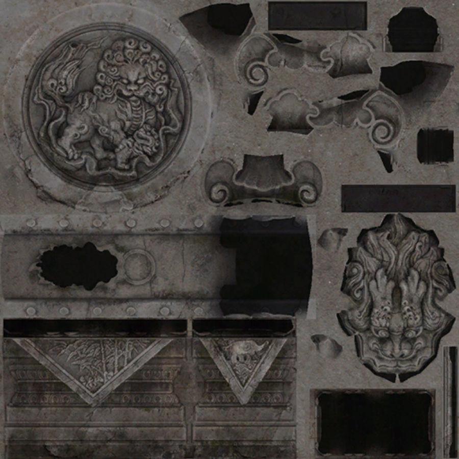 Mittelalterliche Chinakonstruktionen royalty-free 3d model - Preview no. 21