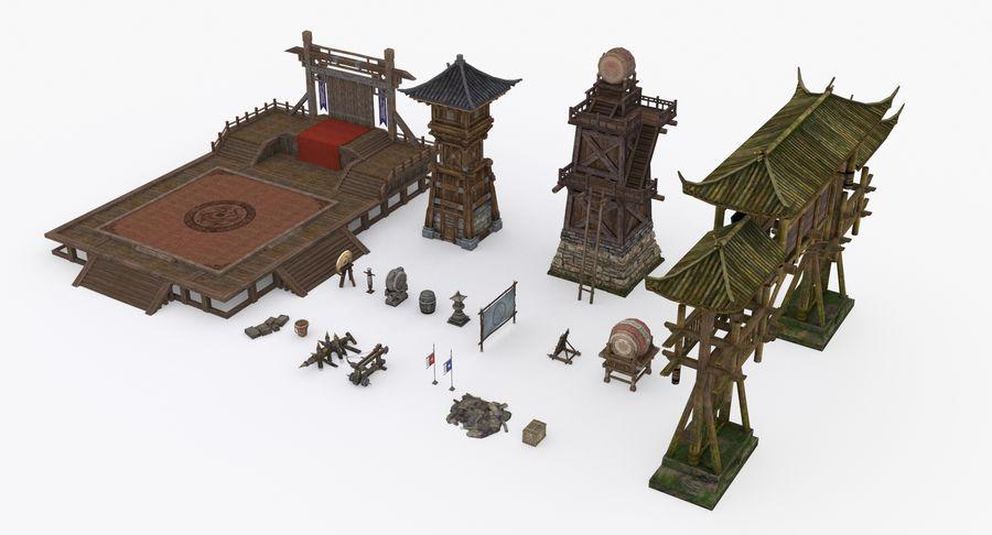 Mittelalterliche Chinakonstruktionen royalty-free 3d model - Preview no. 3
