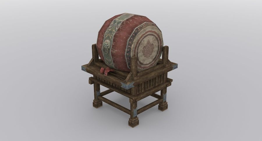 Mittelalterliche Chinakonstruktionen royalty-free 3d model - Preview no. 11