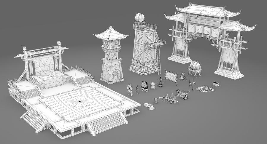 Mittelalterliche Chinakonstruktionen royalty-free 3d model - Preview no. 15