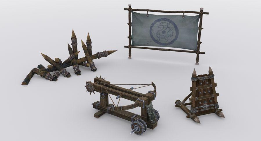 Mittelalterliche Chinakonstruktionen royalty-free 3d model - Preview no. 10