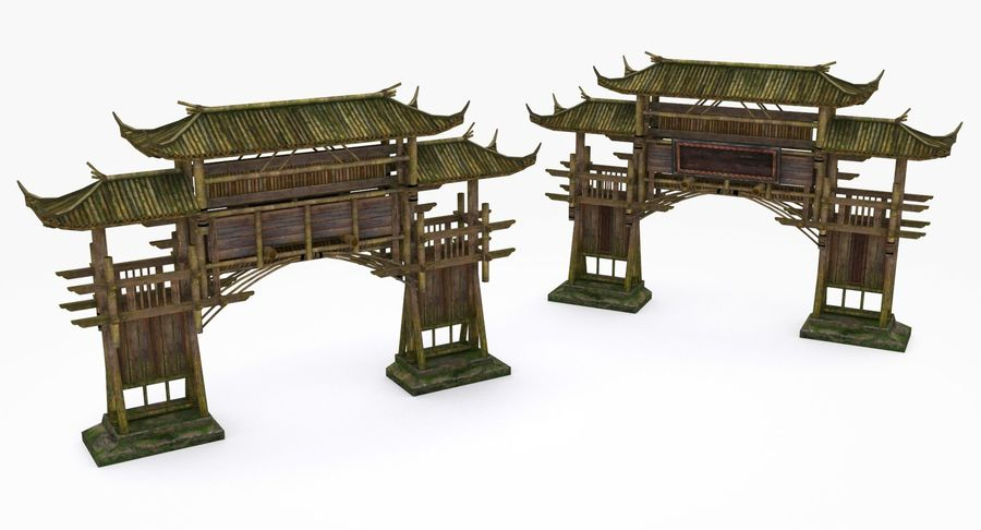 Mittelalterliche Chinakonstruktionen royalty-free 3d model - Preview no. 14