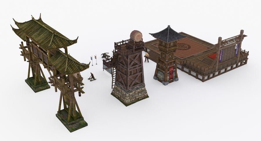 Mittelalterliche Chinakonstruktionen royalty-free 3d model - Preview no. 4