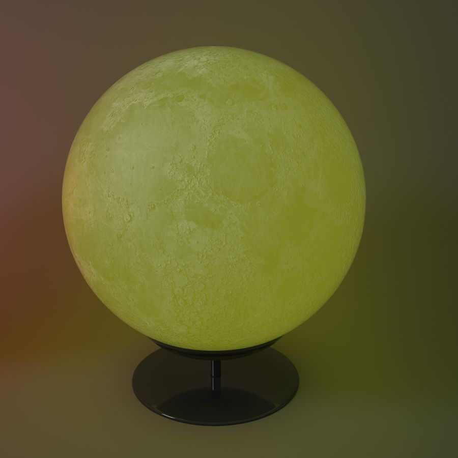 Moon Lamp royalty-free 3d model - Preview no. 2