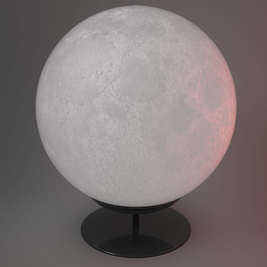 Moon Lamp royalty-free 3d model - Preview no. 4
