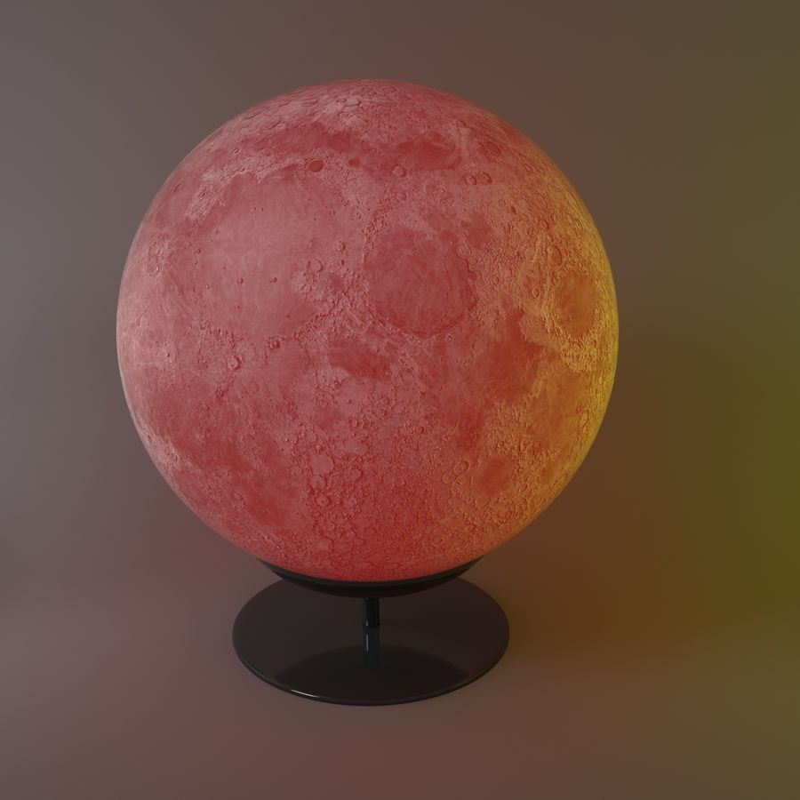 Moon Lamp royalty-free 3d model - Preview no. 3