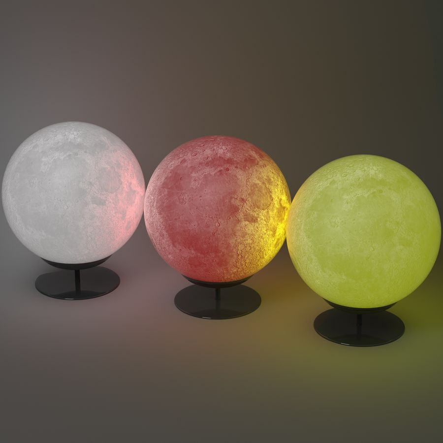Moon Lamp royalty-free 3d model - Preview no. 1