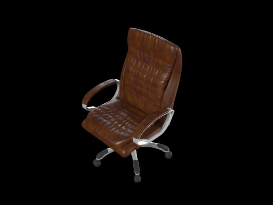 Boss Office Chair royalty-free 3d model - Preview no. 3