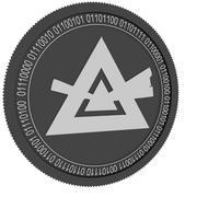 schwarze Münze strahlen 3d model