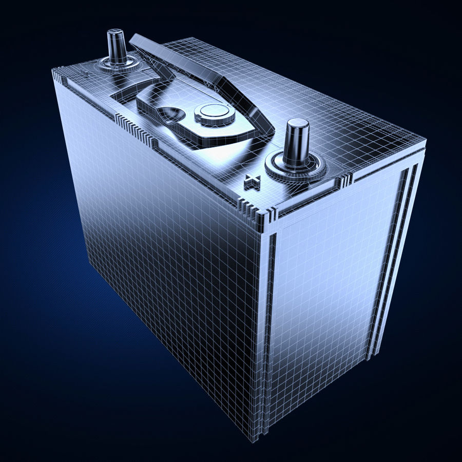 Bateria automotiva royalty-free 3d model - Preview no. 6