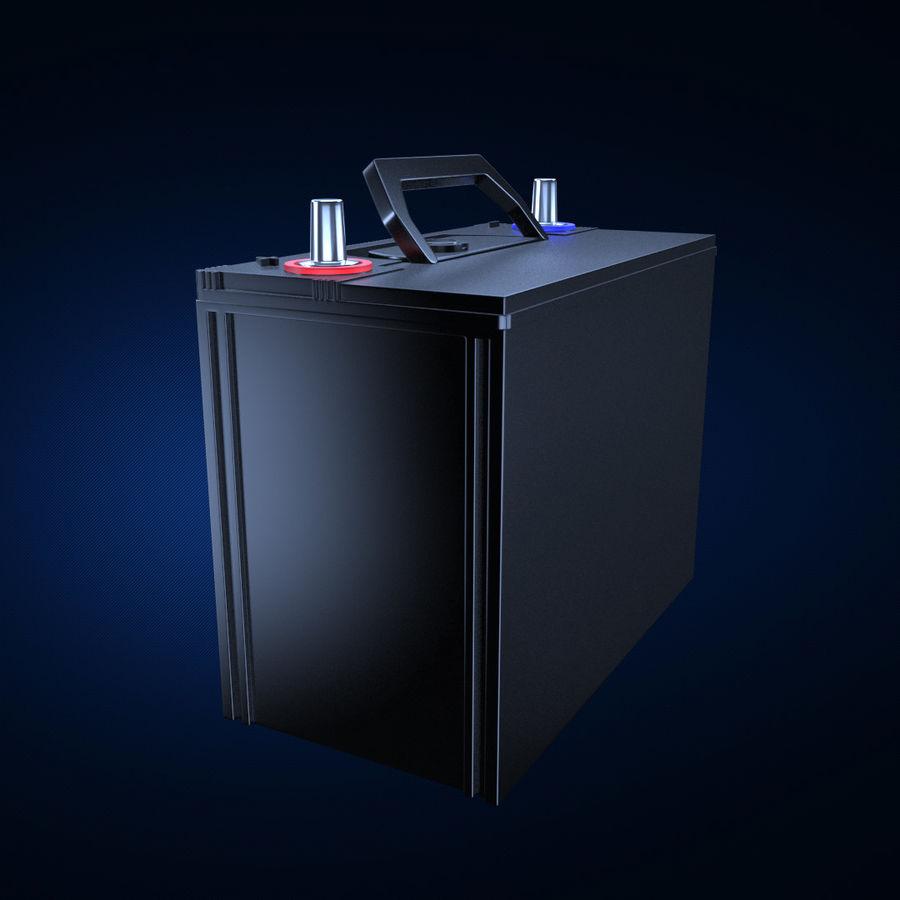Bateria automotiva royalty-free 3d model - Preview no. 1