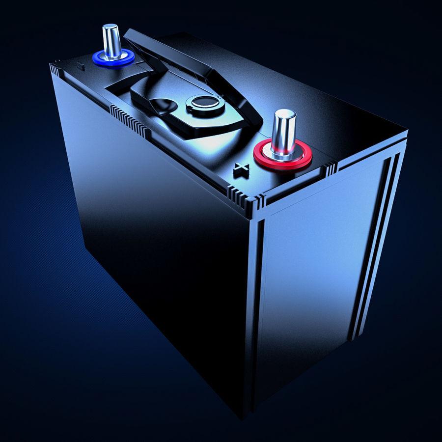 Bateria automotiva royalty-free 3d model - Preview no. 3