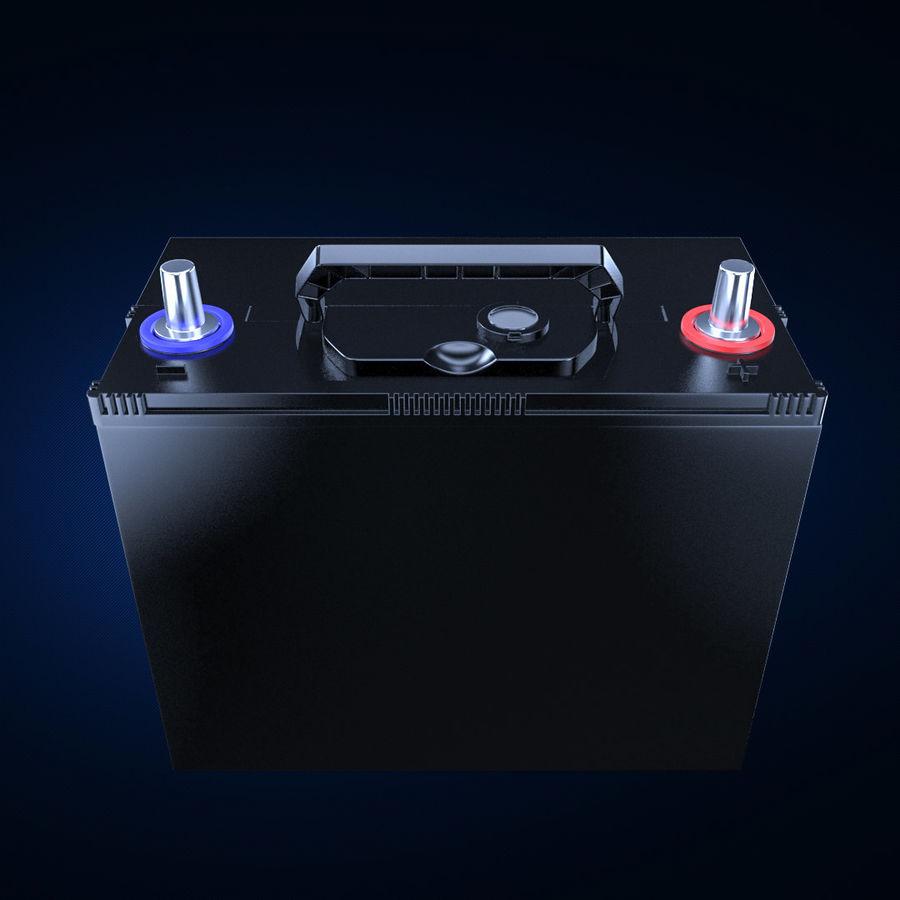 Bateria automotiva royalty-free 3d model - Preview no. 2