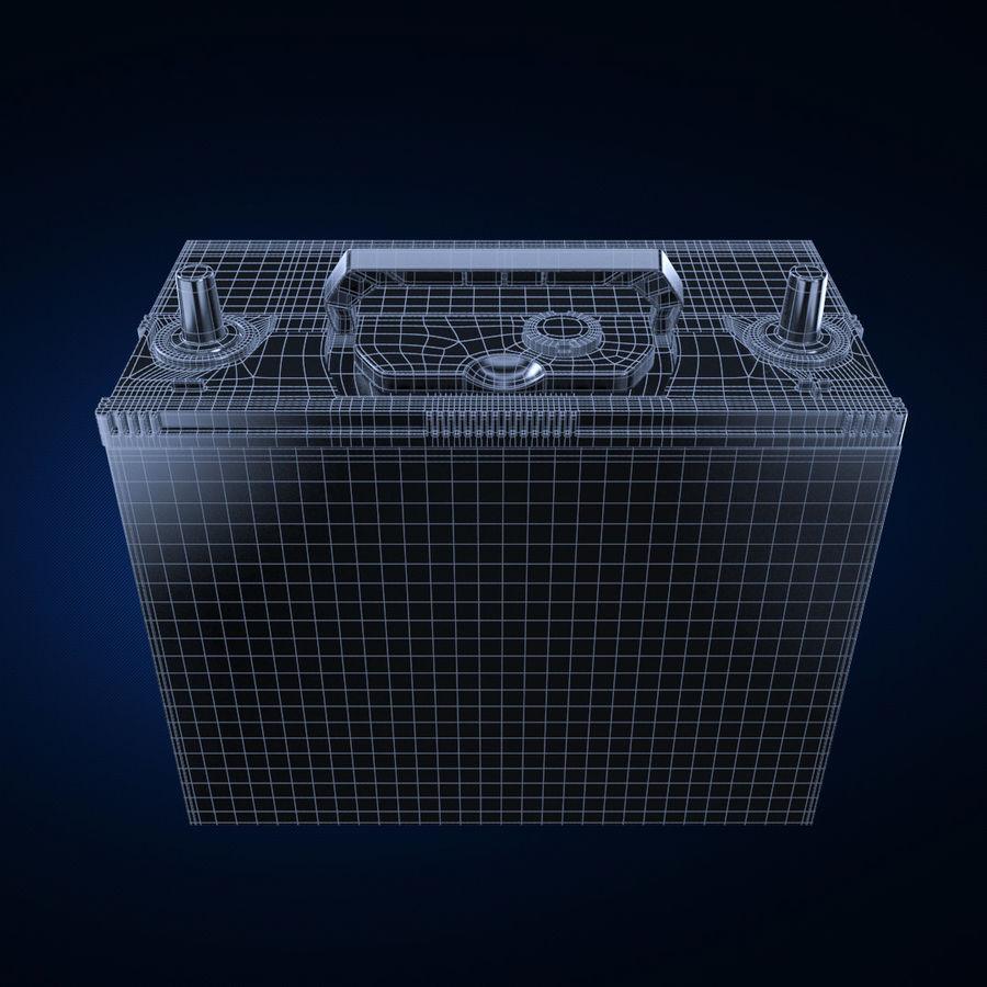 Bateria automotiva royalty-free 3d model - Preview no. 5