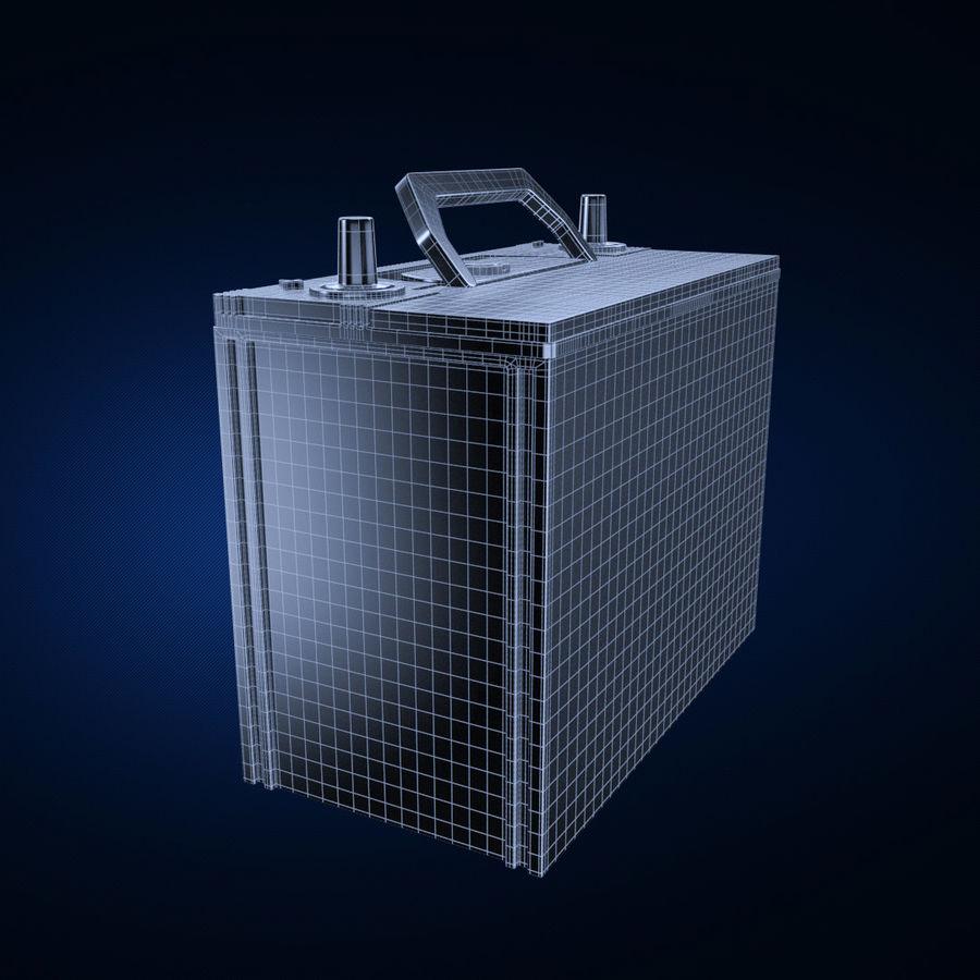 Bateria automotiva royalty-free 3d model - Preview no. 4