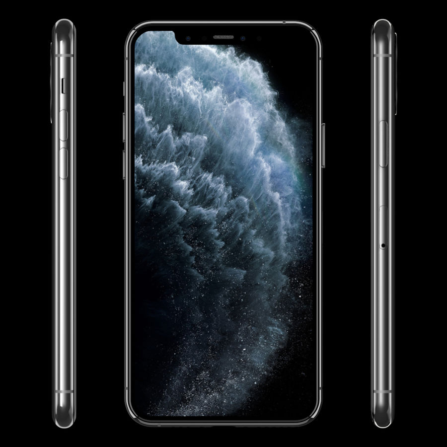 iPhone 11 Pro royalty-free 3d model - Preview no. 8