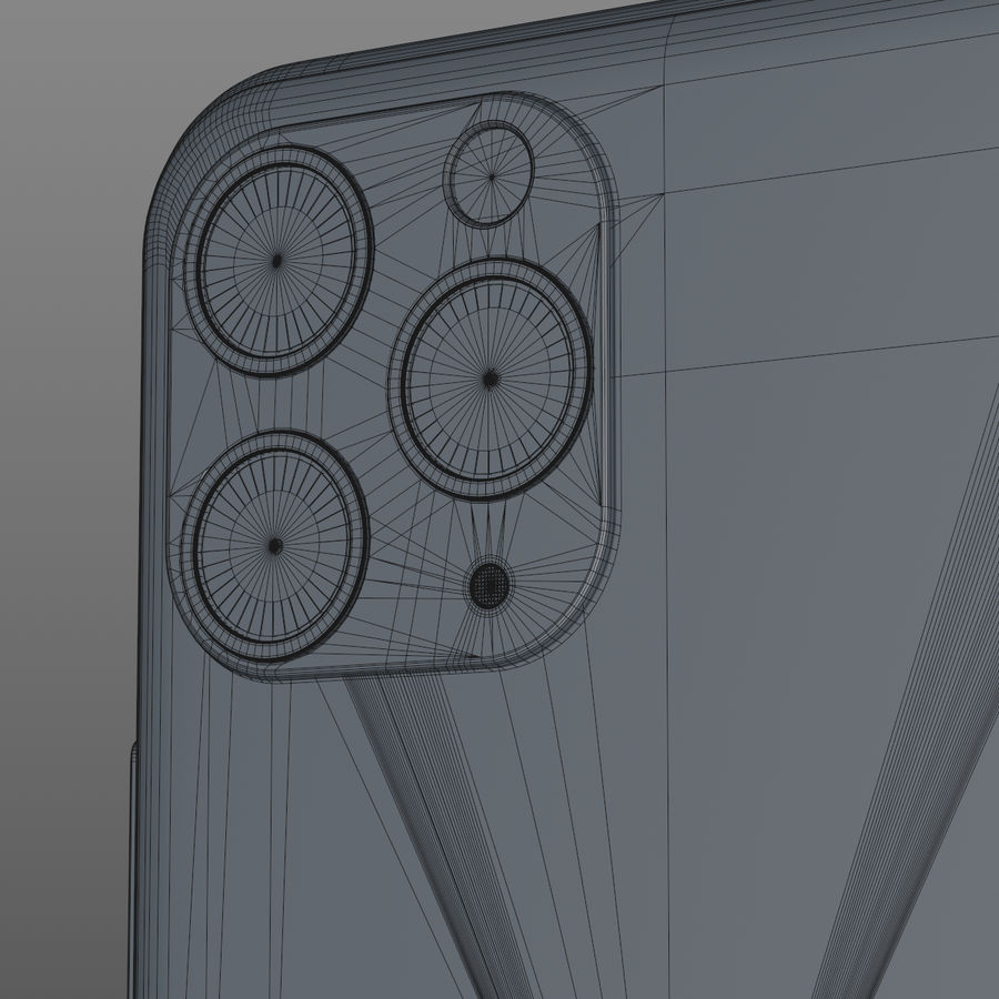 iPhone 11 Pro royalty-free 3d model - Preview no. 13