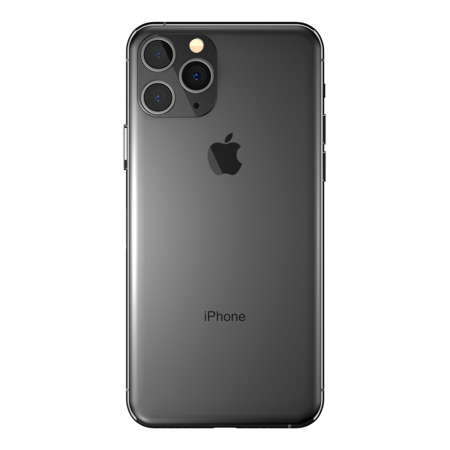 iPhone 11专业版 royalty-free 3d model - Preview no. 9